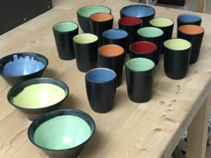 Keramik vom Töpferkurs