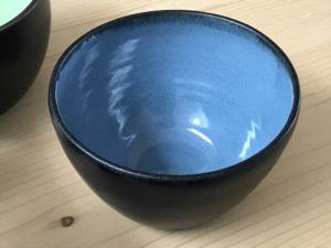 Kleine Keramikschale vom Töpferkurs