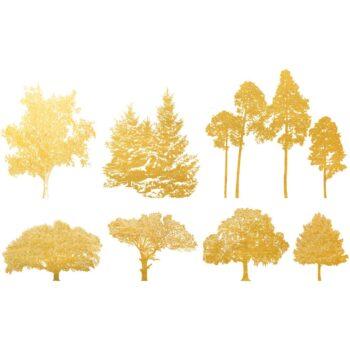 Golddekor für Keramik 22 Karat Gold - Bäume