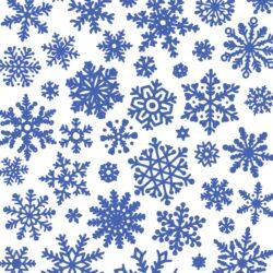 Keramik Dekor Schneeflocken