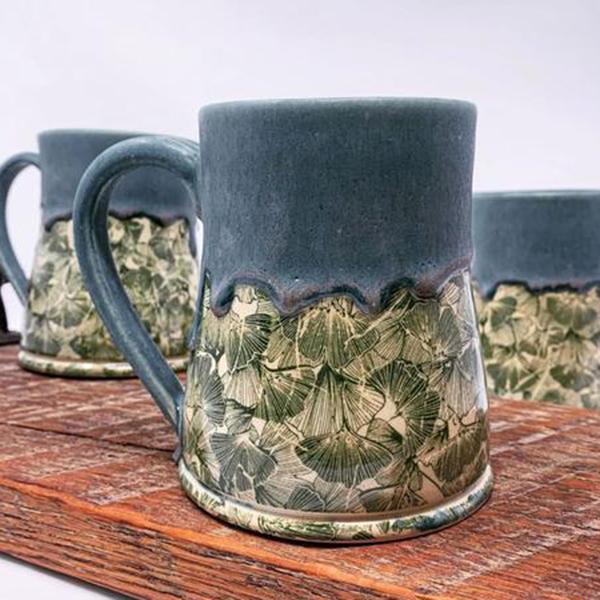 Keramik Dekor Ginkgo