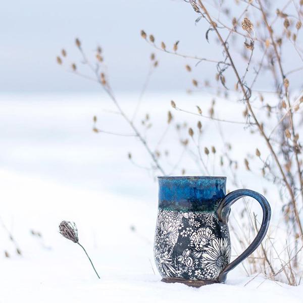 Keramikdekor Sommerblumen