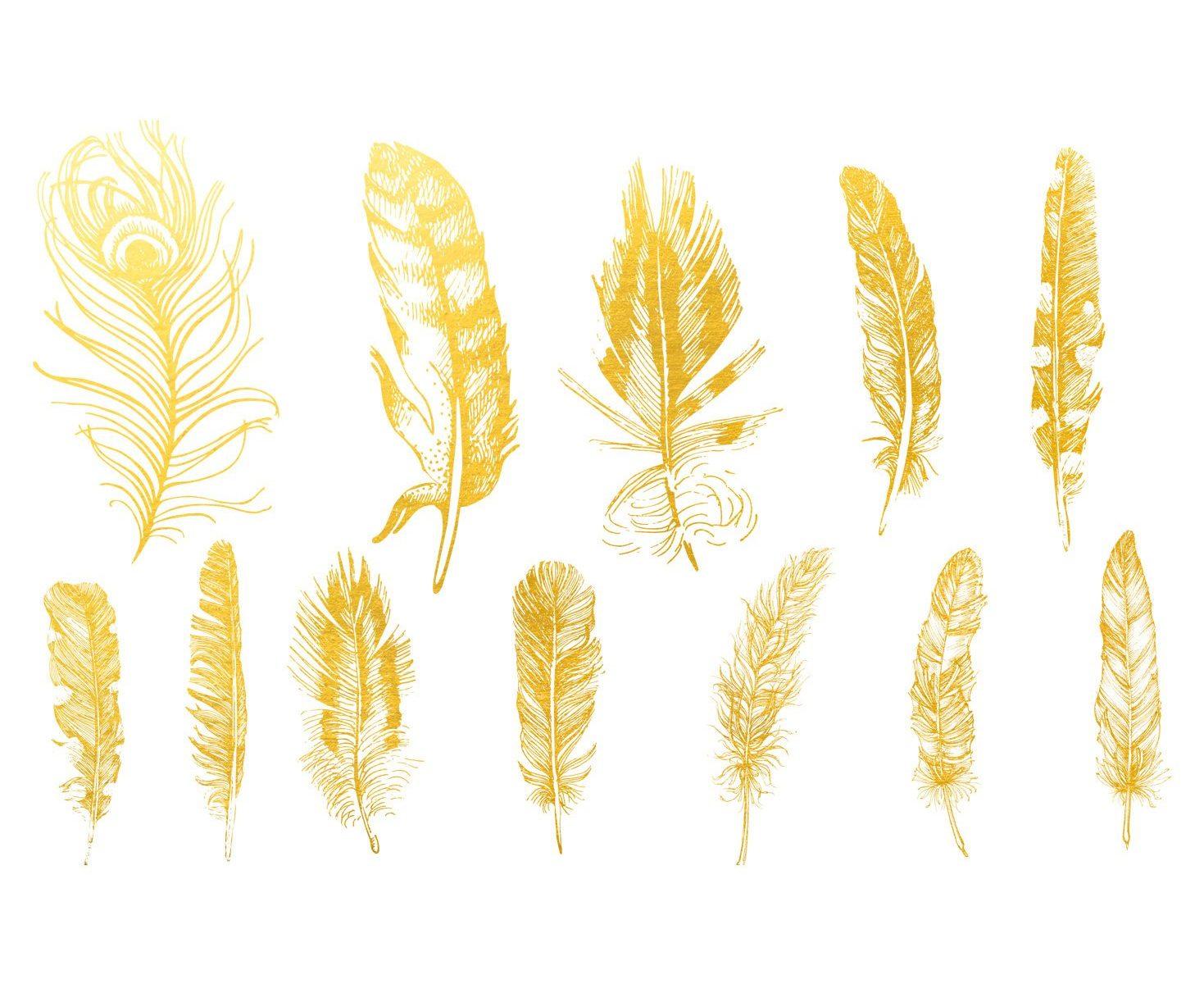 Golddekor für Keramik 22 Karat Gold - Feder