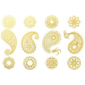 Golddekor für Keramik 22 Karat Gold - Mandala