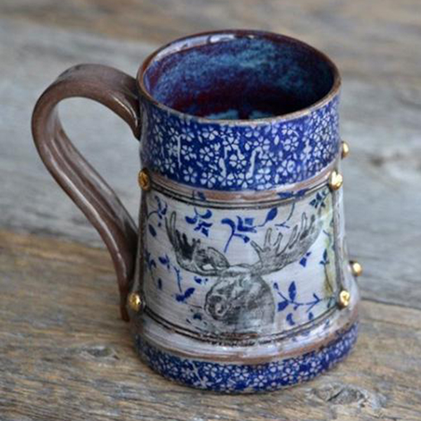 Keramik Dekor kleine Blumen
