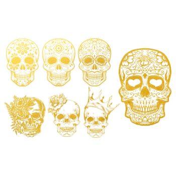 Golddekor für Keramik 22 Karat Gold - Schädel
