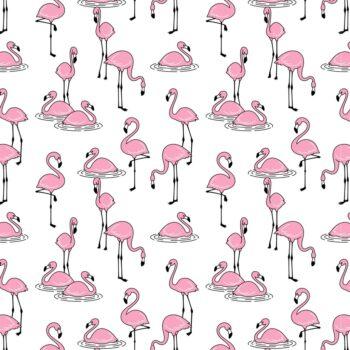 Flamingo Dekor für Keramik