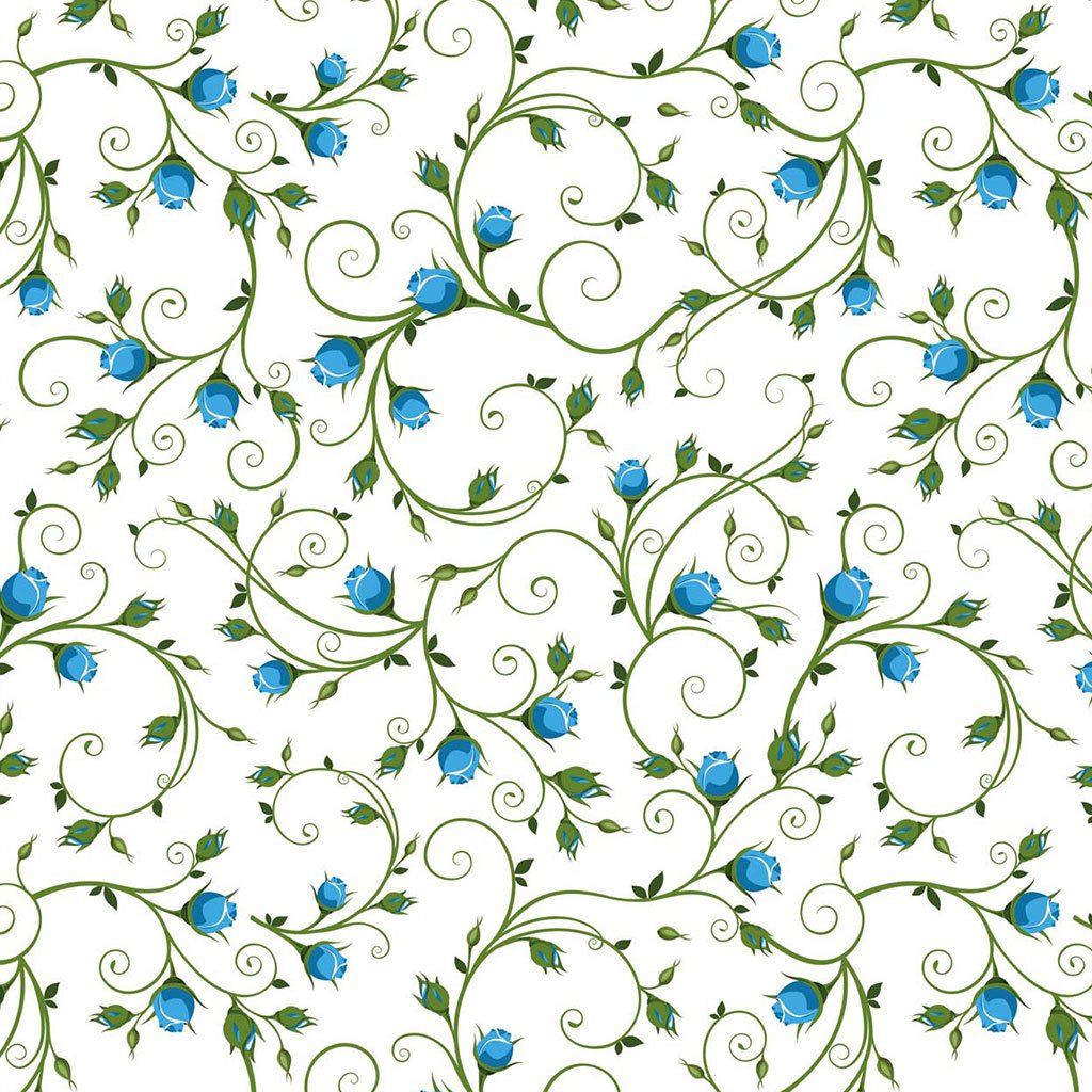 Blaue Blumen Dekor Töpfern