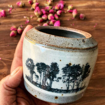 Keramik Dekor Bäume