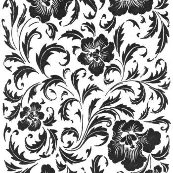 Keramidekor Pflanzenmuster mit Blumen