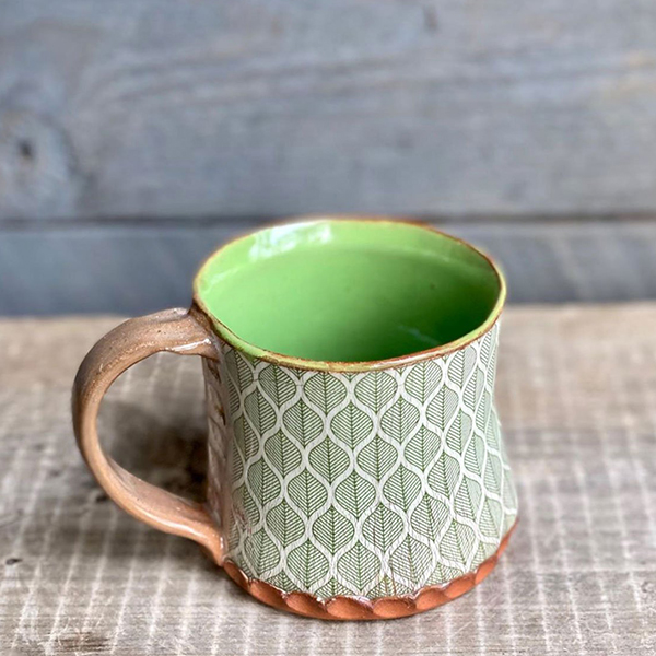 Blättermuster für Keramik