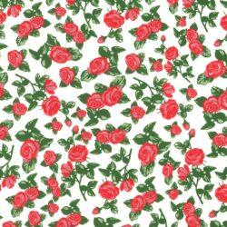 Rote Rosen Dekor für Keramik