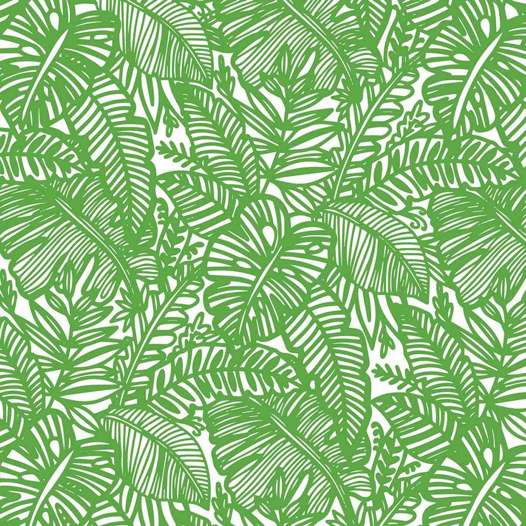 Grüner Uhrwald Keramik Dekor