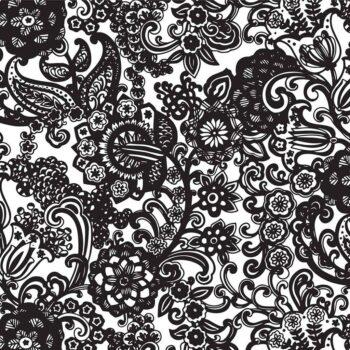 Retro Blumen Dekor für Keramik