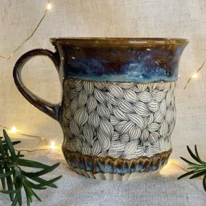 Keramikdekor Blätter