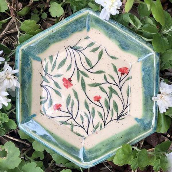 Blumendekor für Keramik zum selber anbringen