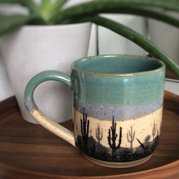 Keramik Dekor Arizona Wüste